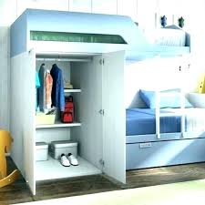 bunk bed with closet loft built in desk beds wardrobes into and drawers bu walk underneath