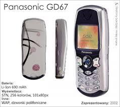 1722 Panasonic GD67 Granatowa część ...