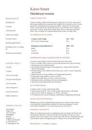 hairdressing resume
