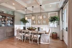 beach style dining room by brandon architects inc