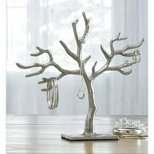 st trading silver branch tree of life jewelry holder dollar diy