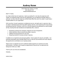 Security Supervisor Cover Letter Best Security Supervisor Cover Letter Examples Livecareer