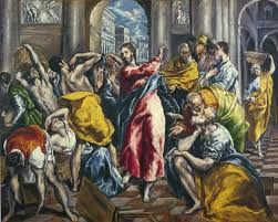 el greco paintings the purification of the temple 1600