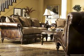 claremore antique living room set. Flowing With The Rich Beauty Of Old World Design, \u201cClaremore-Antique\u201d  Upholstery Collection Features Comfort Thick Rolled Arms Wrapped In Faux Claremore Antique Living Room Set A