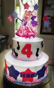 Barbie Princess And Rockstar Birthday Cake Cakes And Memories