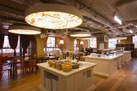 google moscow office. image: g. smirnov via camenzind evolution a spacious cafeteria. after interviewing google employees in moscow office