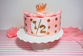 Half Birthday Cake Set Pinkgold Felt Cake Half Birthday Etsy