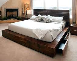 platform queen bed with drawers powerlistinfo