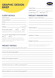 Personalize And Download A Graphic Design Brief Template