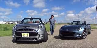 Drag Race: 2016 MINI Cooper S Convertible vs. MX-5 Miata ...