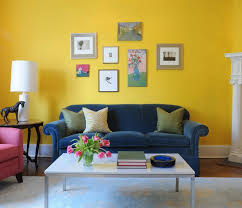 sunny yellow paint colors make your living room feels warm lovely yellow living room decoration