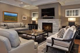 Lovely Living Room With Tv And Fireplace with Living Room With