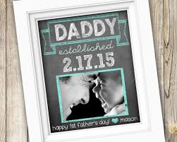 new dad first father s day gift personalized custom printable daddy photo subway art digital