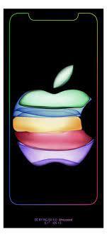 Apple invite logo with rainbow border ...