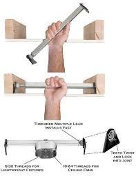 ceiling fan box. convert recessed light to ceiling fan box ideas
