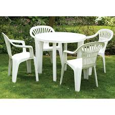round plastic outdoor tables white table and chairs brilliant garden patio dining round plastic outdoor tables