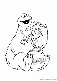Cookie Monster Coloring Sheets Cookie Monster Coloring Page