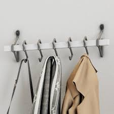 Wall Mount Coat Rack With Hooks Delectable Jerez Metal Wall Mount Coat Rack With Hanging Hook Reviews Birch