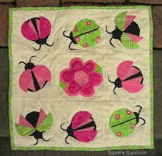The Patchsmith: Ladybirds and Ladybugs Across the Pond & Susie's Ladybug Wall Quilt Adamdwight.com