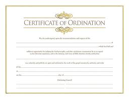 blank ordination certificates certificate of ordination for minister cokesbury