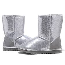 UGG Classic Short Sparkles 3161 Boots Silver ...