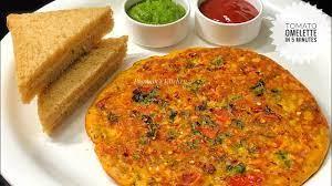 vegetable tomato omelette recipe