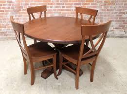 48 round oak table in brown cherry finish