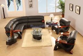 Modern Line Furniture   Commercial Furniture   Custom Made Furniture |  Modern Black Leather Sectional Sofa With Two Chairs, Coffee Table And Two  End Tables ...