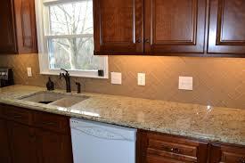 Clear Glass Backsplash Champagne Glass Subway Tile Subway Tiles Kitchen Backsplash And