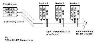 rs 485 connections faq 2 wire rs485 rs232 b b electronics figure 1 2 wire rs 485 connections