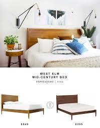 west elm mid century bed. Exellent Mid West Elm MidCentury Bed With Mid Century Y