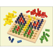 Wooden Peg Board Game Wooden Pegboard Color Pegs 46