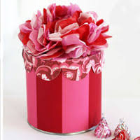 Gift Box Decoration Ideas How to Make a Tissue Paper Flower Valentine Gift Box In My Own Style 90