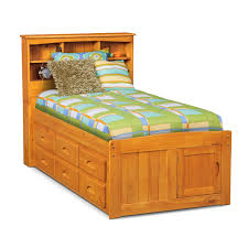 Ranger Twin Bookcase Bed with 6 Underbed Drawers - Pine | American ...