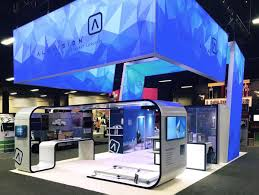 Convention Booth Design Trade Show Display Rentals Custom Rental Exhibits Blazer