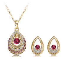 gold pendant set ajw nk pd 0044