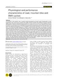 (PDF) Physiological and performance characteristics of <b>road</b> ...