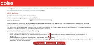 apply Coles online step 8