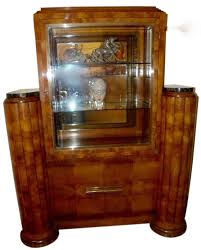 art moderne furniture. french art deco display cabinet vitrine moderne furniture f