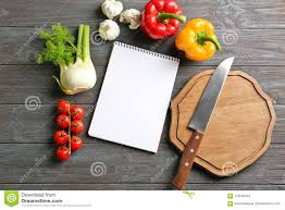 Notebook And Vegetables Cooking Classes Concept Stock Photo Image