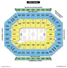 Dcu Center Seating Chart With Rows Dcu Center Virtual Seating 2019
