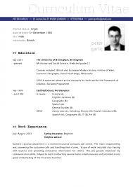 Free German Resume Template In English