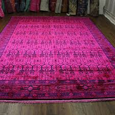 trending product this item has been added to cart 28 times in the last 24 hours 9x12 hot pink overdyed rug