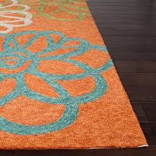 jaipur rugs catalina blossomed 3 x 5 indoor outdoor rug orange blue ultimate patio