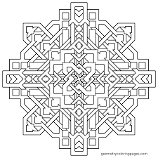 Pin By Geometry Coloring Pages On