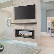 ventless propane insert majestic echelon inch see through linear direct vent gas firepla thru electric fireplace mhs complete suites