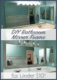cheap bathroom makeover. Simple Makeover DIY Bathroom Mirror Frame  Cheap Easy Do It Yourself Makeover  Blue Wood Stain White Wash In D