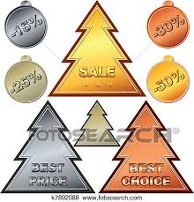 Clip Art Of Christmas Set Of Gold Silver Bronze Money Coin Price