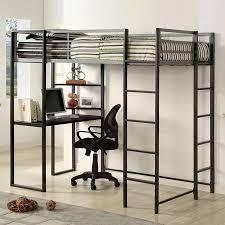 Furniture of America Sherman Silver/Gun Metal Twin Study Loft Bunk Bed