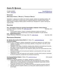 Resume Format For Librarian Library Science Resume Examples